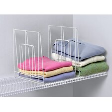Closet Organization Large Ventilated 1 Pack Shelf Divider in White
