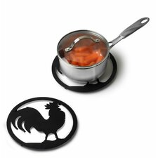 <strong>Spectrum Diversified</strong> Silhouettez Pantry Rooster Trivet in Black