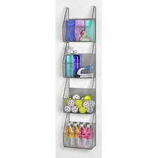 "11"" x 53"" 4 Basket Vertical Storage Rack"
