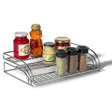 Tiered Chrome Shelf Organizer