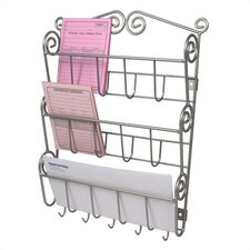 <strong>Spectrum Diversified</strong> Scroll Wall Mount Letter Holder in Satin Nickel