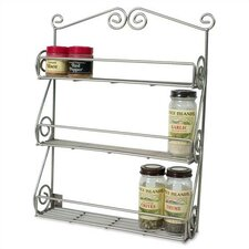 Scroll Wall-Mounted Spice Rack in Satin Nickel