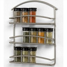 <strong>Spectrum Diversified</strong> Euro Wall-Mounted Spice Rack in Satin Nickel