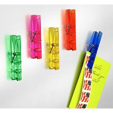 Neo Magnet Large Memo Clip Clothes Pin (Set of 5)