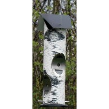 Woodland Bird Feeder for Thistle Seed in White