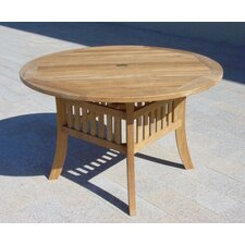 <strong>Royal Teak by Lanza Products</strong> Teakwood Curved Leg Dining Table