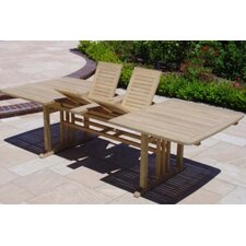 <strong>Royal Teak by Lanza Products</strong> Teakwood Double Extended Dining Table