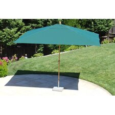 <strong>Royal Teak by Lanza Products</strong> 8' Royal Rectangular Umbrella