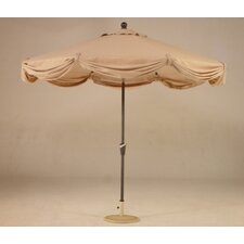 <strong>Royal Teak by Lanza Products</strong> 9' LED Light Scallop Market Umbrella
