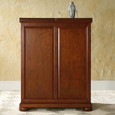 <strong>Crosley</strong> Alexandria Expandable Bar Cabinet in Classic Cherry