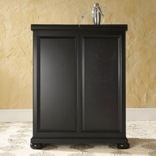 <strong>Crosley</strong> Alexandria Expandable Bar Cabinet in Black