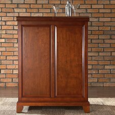 <strong>Crosley</strong> Newport Expandable Bar Cabinet in Classic Cherry