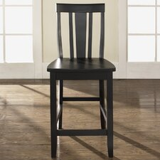 "Shield Back 24"" Barstool in Black"