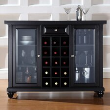 Cambridge Sliding Top Bar Cabinet in Black