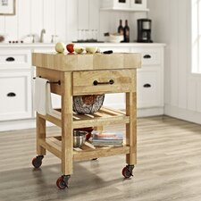 Marston Kitchen Cart with Butcher Block Top