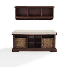 Brennan 2 Piece Entryway Bench and Shelf Set