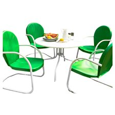 <strong>Crosley</strong> Griffith Metal 5 Piece Outdoor Dining Set