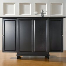 <strong>Crosley</strong> Cambridge Expandable Bar Cabinet in Black