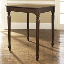 <strong>Crosley</strong> Turned Leg Pub Table in Vintage Mahogany