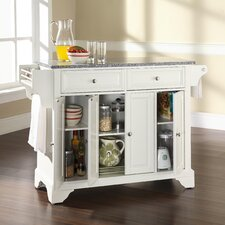 <strong>Crosley</strong> LaFayette Kitchen Island with Granite Top