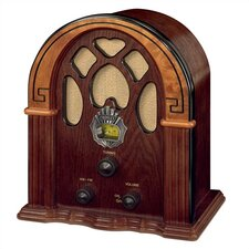 Old-fashioned Companion Walnut/Burl Radio