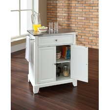 Newport Kitchen Island with Stainless Steel Top