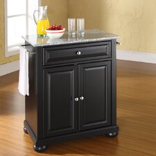 Alexandria Kitchen Island with Granite Top
