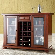Alexandria Sliding Top Bar Cabinet in Classic Cherry