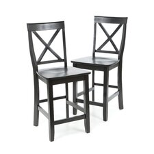 "X-Back 24"" Barstool in Black"
