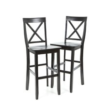 "X-Back 30"" Barstool in Black"