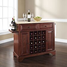 <strong>Crosley</strong> Lafayette Kitchen Island with Wood Top