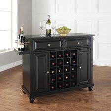 Cambridge Kitchen Island with Black Granite Top