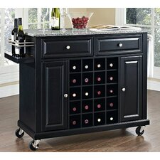 Wine Cart with Granite Top