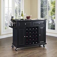 <strong>Crosley</strong> Kitchen Cart with Black Granite Top