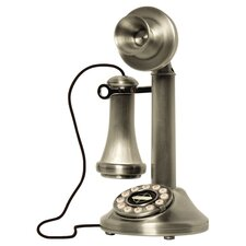 Candlestick Phone in Brushed Chrome