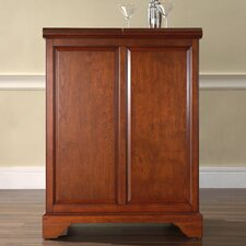 <strong>Crosley</strong> LaFayette Expandable Bar Cabinet in Classic Cherry