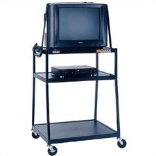 "44"" High, 2-Shelf Wide Body TV Cart"