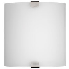 Ashton 2 Light Wall Sconce with Glass Diffuser