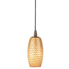 Marta Wishes Pendant Shade in Marta Amber Glass with Holder Options