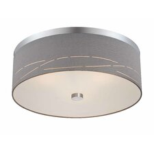 Silver Laser 3 Light Flush Mount