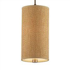 Taylor Organic Modern Mini Pendant Shade in Natural Grasscloth