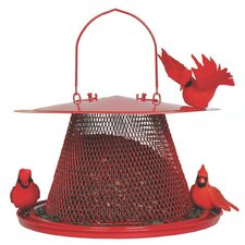 No / No Cardinal Caged Bird Feeder