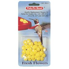 Replacement Feeder Flowers in Yellow