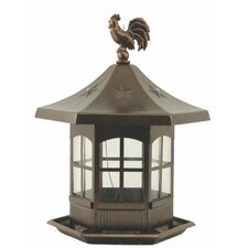 Cupola Bird Feeder in Brown