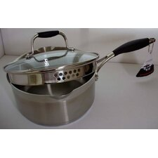 Cooksworld Saucepan with Strainer Lid
