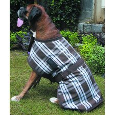 Thermo Plaid Dog Jacket in Blue