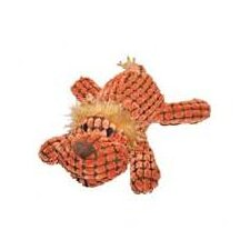 "14"" Waffle Wags Plush Lion in Orange"