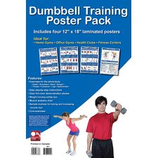 Dumbbell Training Poster Pack (Set of 4)