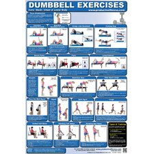 <strong>Productive Fitness Publishing</strong> Dumbbell Poster - Lower Body