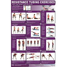 <strong>Productive Fitness Publishing</strong> Resistance Tubing Poster - Lower Body